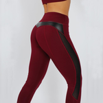 Load image into Gallery viewer, Black Mesh Splice Fitness Leggings
