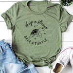 Load image into Gallery viewer, Save A Turtle T Shirt Funny Slogan Women Fashion