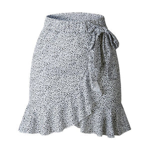Women skirt  Retro High Waist Evening Party Short Print Skirt Daily skirt