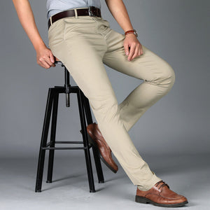 Suit pants mens casual office high quality trousers f