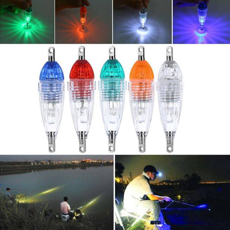 LED Flashing Mini Deep Drop Underwater Lights Fishing Squid Fish Lure