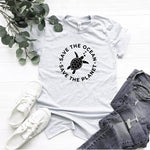 Load image into Gallery viewer, The Planet Protect Environment Summer Woman T-shirt Cotton