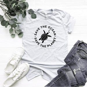 The Planet Protect Environment Summer Woman T-shirt Cotton