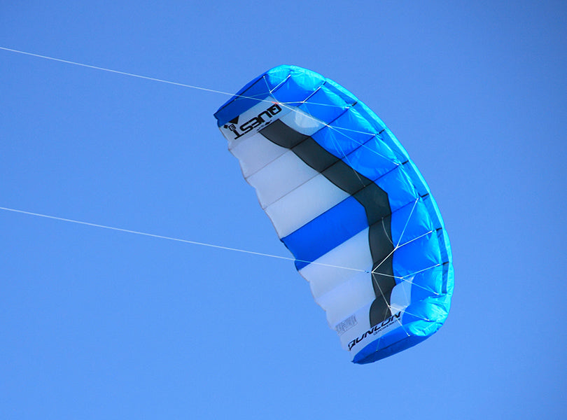 Flying Blue Quest Dual Line Traction Kite
