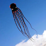 Black 75ft Tube-Shaped Parafoil Octopus Kite