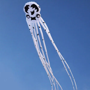 Cute 75Ft 3D Tube-Shaped Parafoil Cow Pattern Octopus Kite