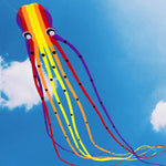 Flying 49Ft 3D Tube-Shaped Parafoil Flame Octopus Kite