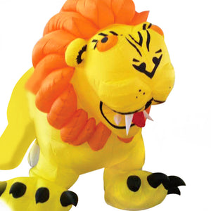 Cute 16ft Yellow Lion Inflatable Line Laundry