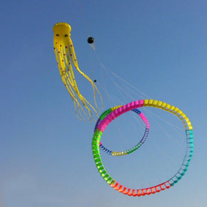 Flying Tube-Shaped Octopus Kite