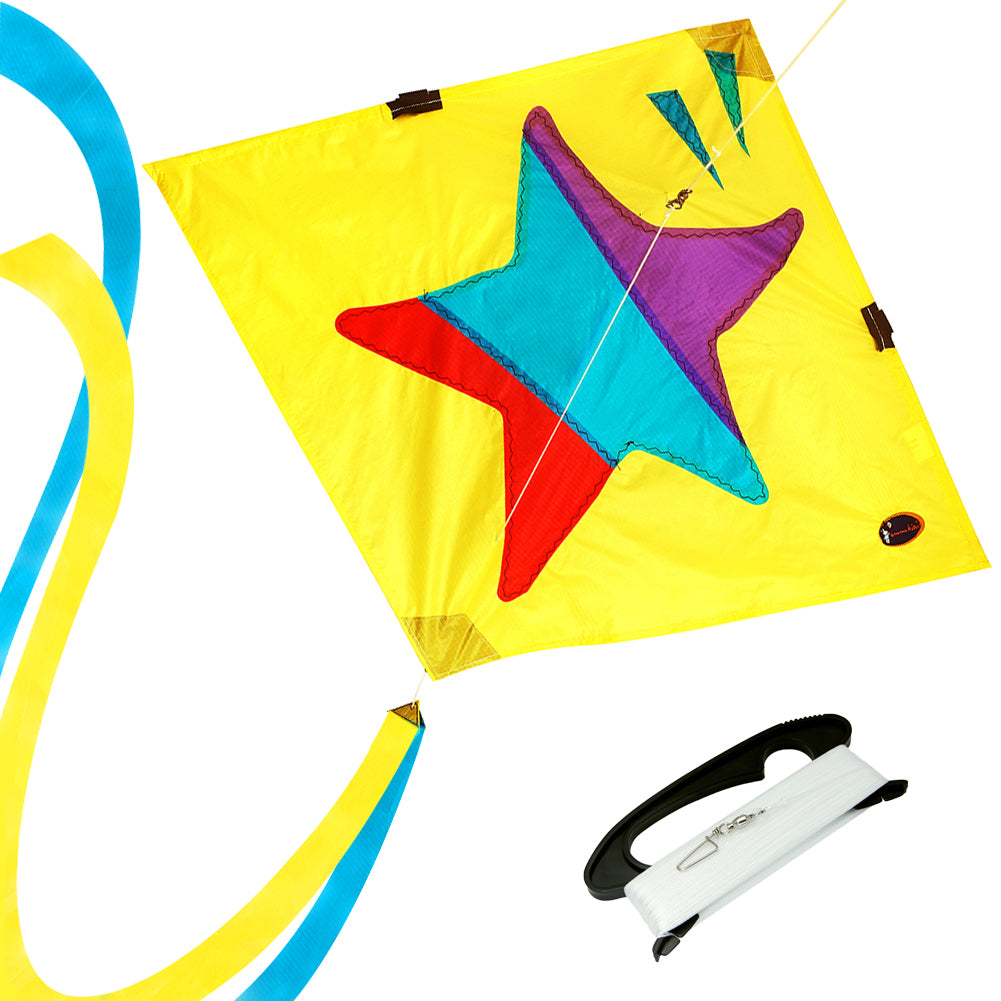 Little Star Diamond Kite 30 Inch RTF Kit With Kite Line