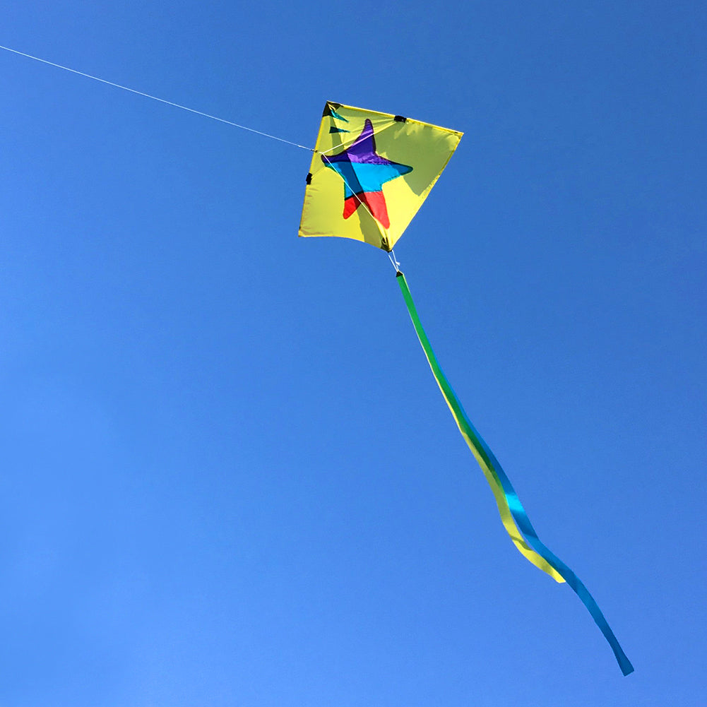 Flying Cute Little Star Diamond Kite for Kids