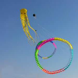 Cute Large 3D 98ft Tube-Shaped Parafoil Octopus Kite