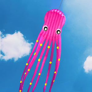 Pink 75ft Tube-Shaped Parafoil Octopus Kite
