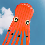Orange 75ft Tube-Shaped Parafoil Octopus Kite
