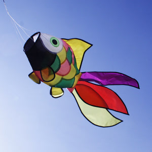 Rainbow Fish Windsock Spinner Spiral Cute Kite