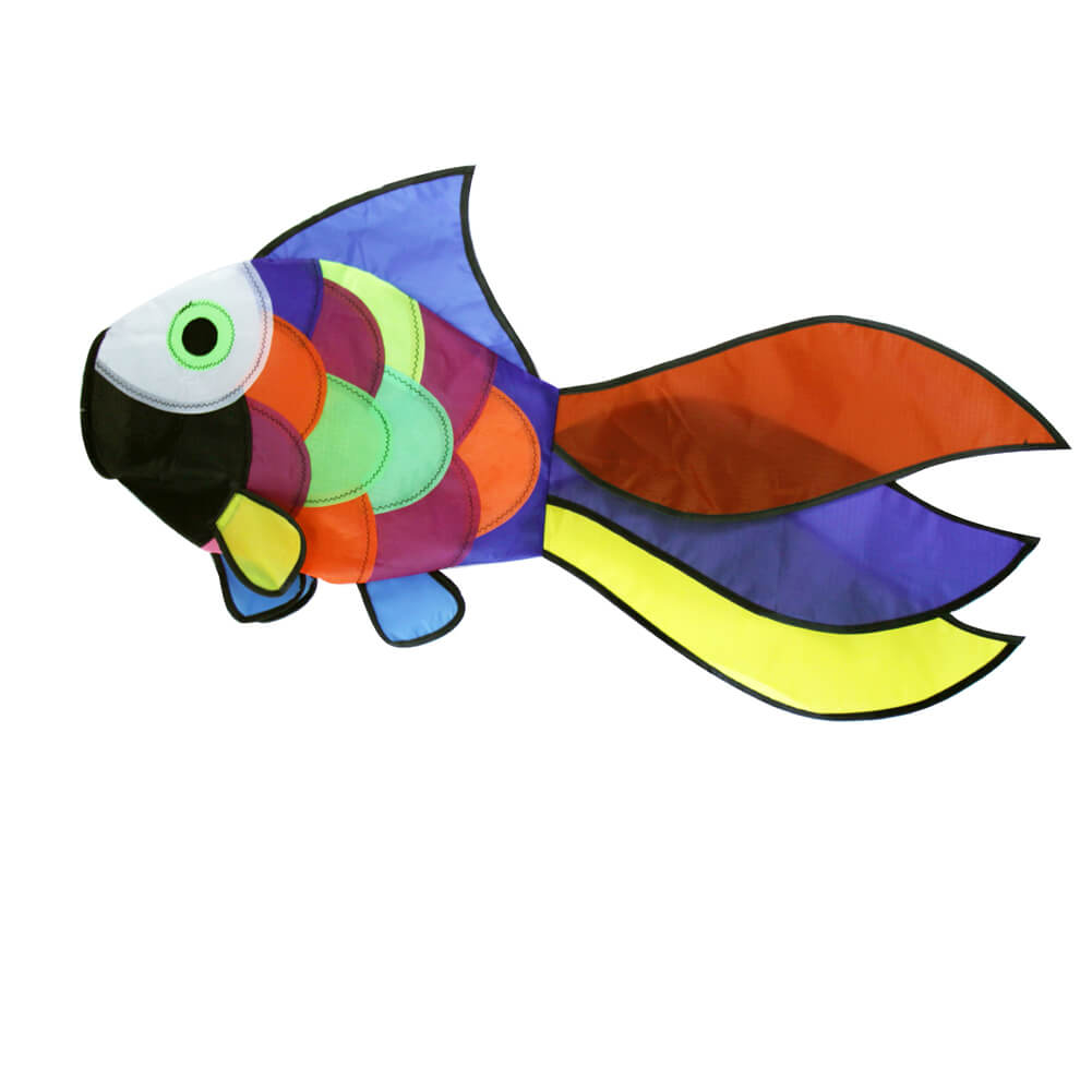 32 inch Rainbow Fish Windsock Spinner Spiral