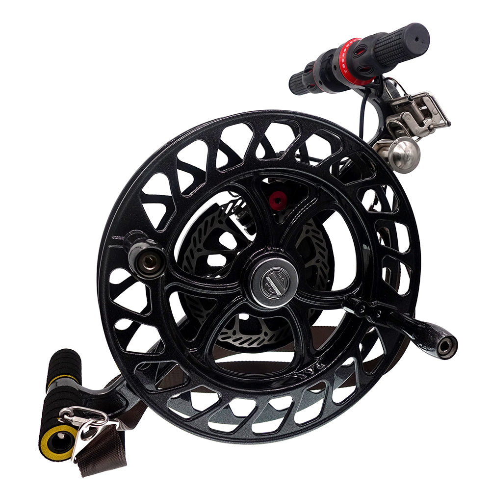 Black Professional Disc Brake Kite Reel