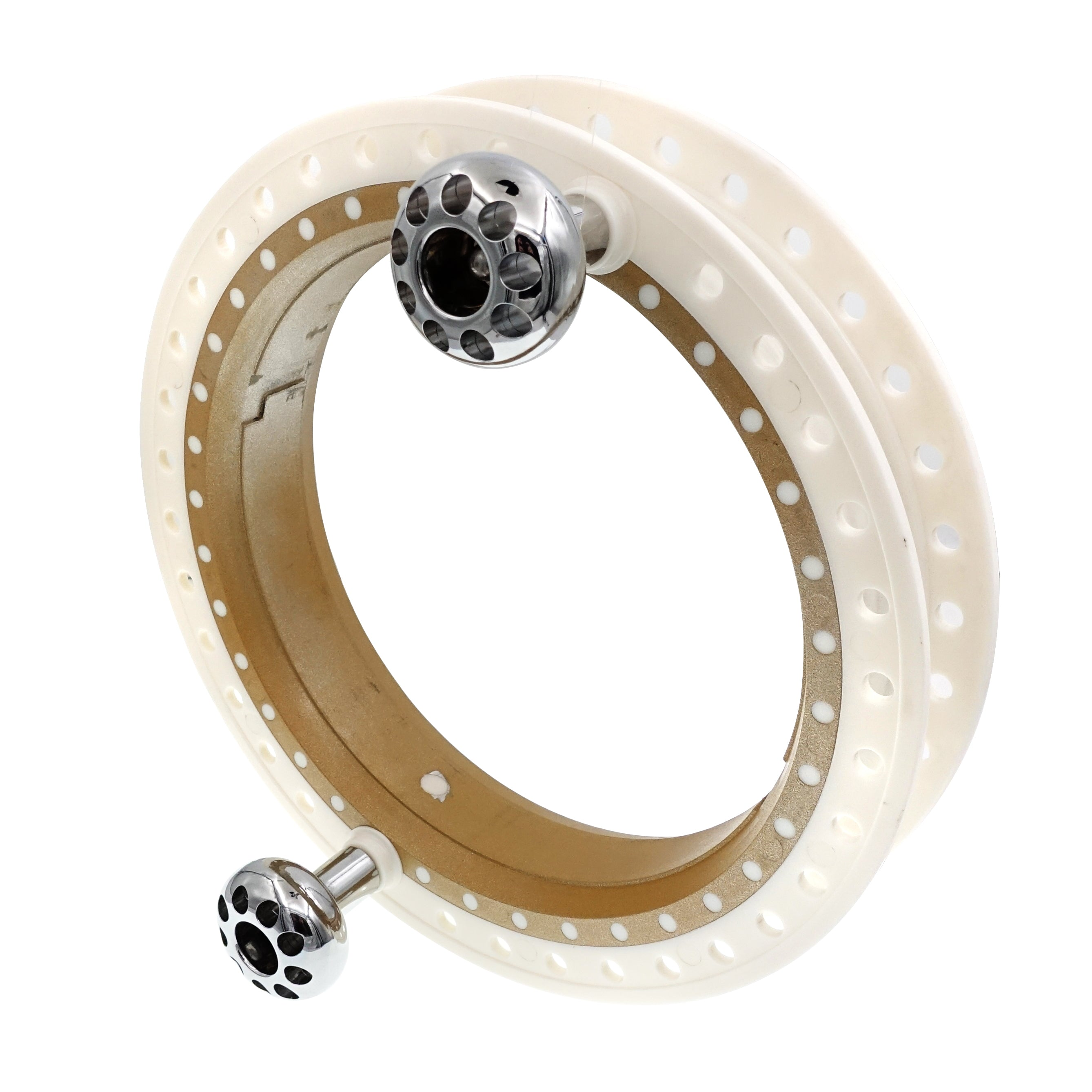 White ABS Plastic Kite Reel Winder Outer Part