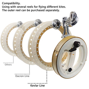 11inch Detachable ABS Kite Reel Line Winder Omnibearing Line-Guide Ratchet Lock With Strap Set