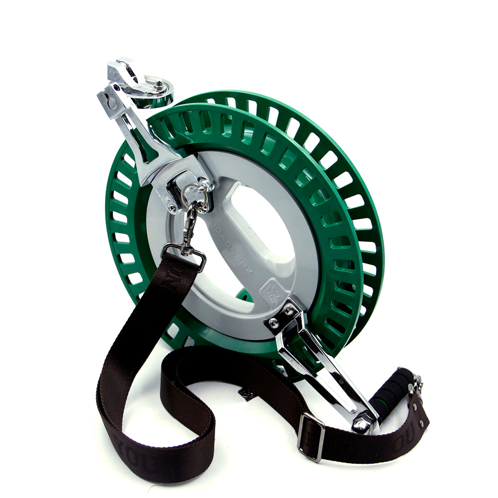 Green 10.6 inch Large Kite Reel with Strap