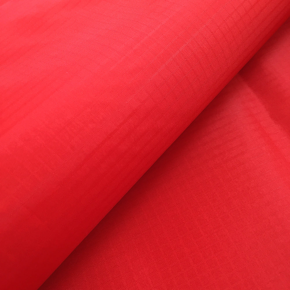 Red 40D PU Coated Ripstop Nylon Fabric