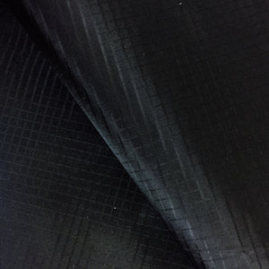 Black 50 Yards 40D PU Coated Ripstop Nylon Fabric