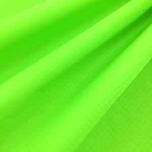 Fluorescent Green 40D PU Coated Ripstop Nylon Fabric