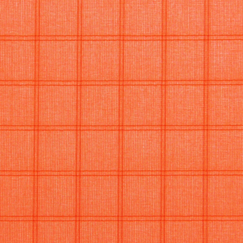 Fluorescent Orange PC20 Ripstop Polyester Fabric