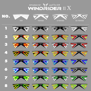 8 colors for each kind of Windrider Ⅱ Ⅹ Quad Line Stunt Kite