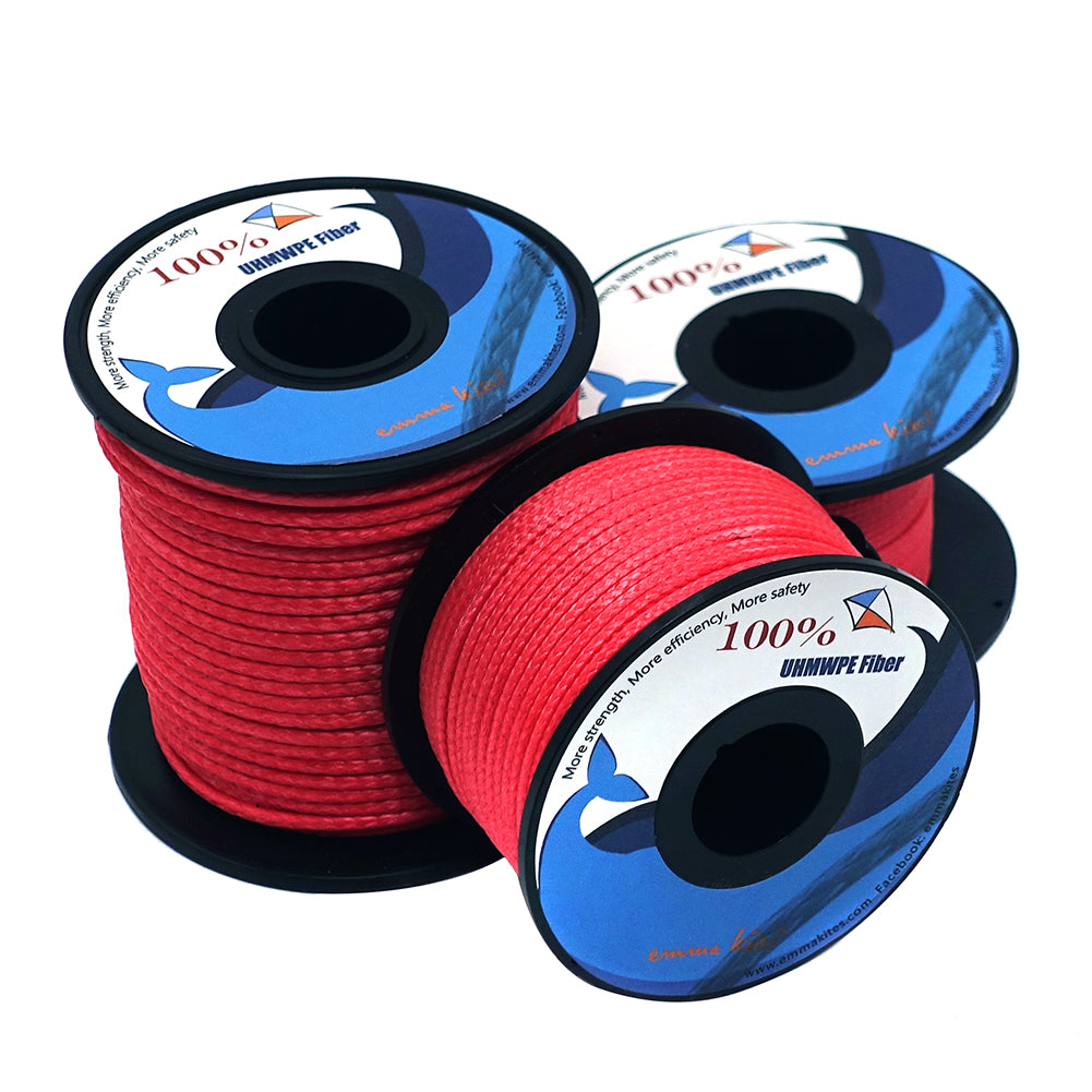 Spools of Emma Kites Red UHMWPE Kite Line