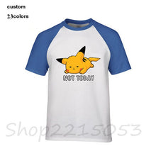 Load image into Gallery viewer, Not-Today Anime Nintendo not today Pikachu Pokemon Video Game Men manga tshirts japanese cartoon t-shirt male kids game t shirts