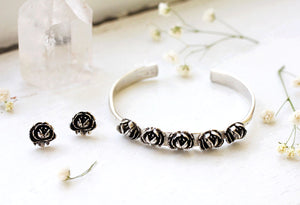 row or roses cuff bracelet