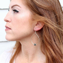 Load image into Gallery viewer, side profile of a beautiful auburn colored hair lady with rose earring