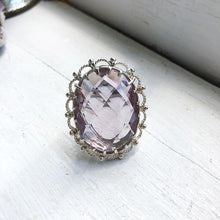 Load image into Gallery viewer, Amethyst Crown Ring