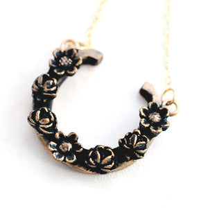 Horseshoe Necklace / Horseshoe Necklace Made by Ivry Belle Jewelry