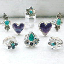 Load image into Gallery viewer, Wampum Heart Ring Handmade by Ivry Belle Jewelry / Size 6.5