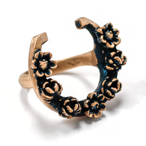 Horseshoe Ring / Horseshoe Ring Made by Ivry Belle Jewelry