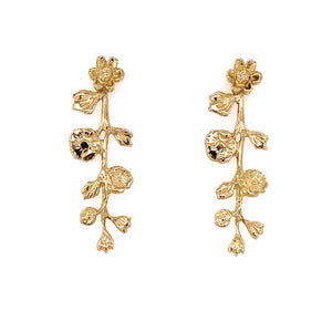 Gold Floral Vine Earrings / Made by Ivry Belle Jewelry