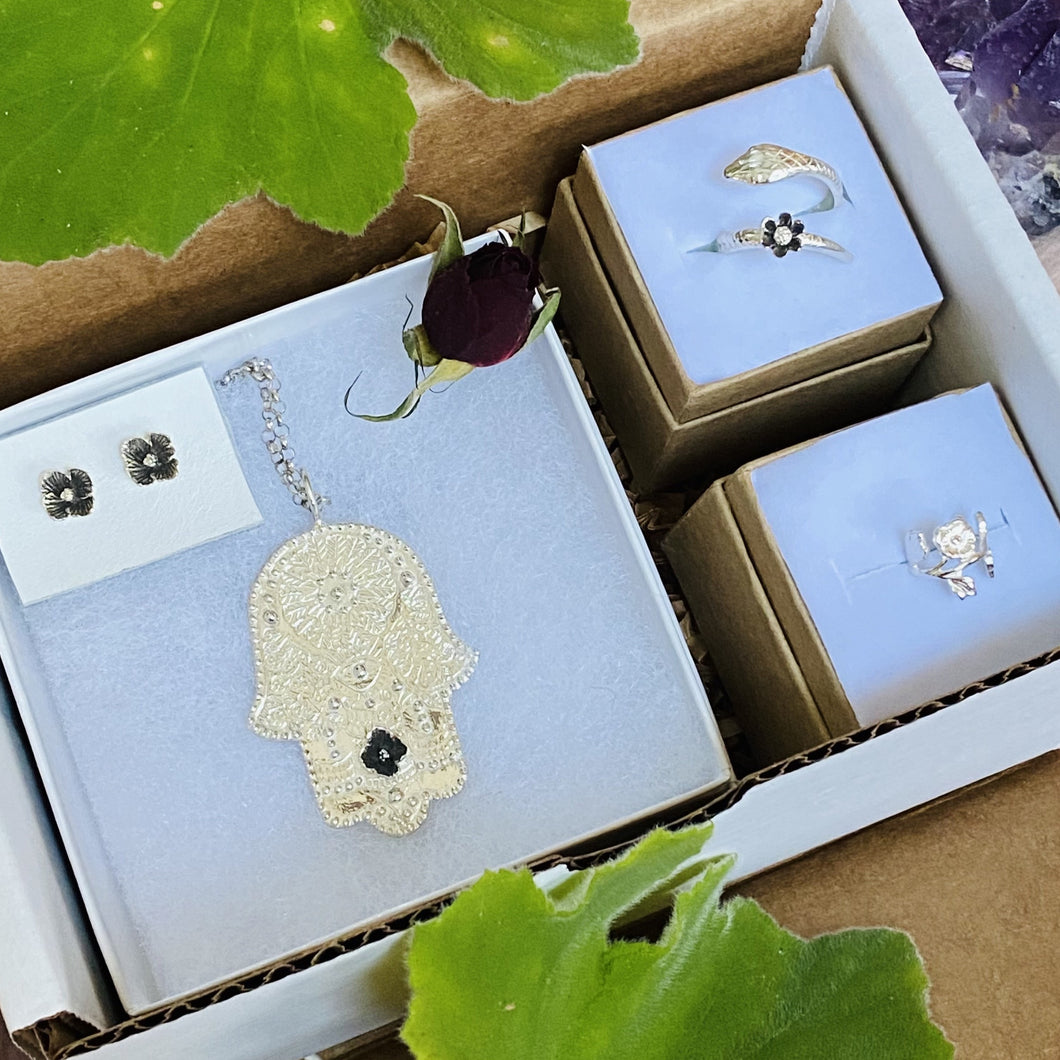Hamsa Protection Parcel / Gift Box made by Ivry Belle Jewelry