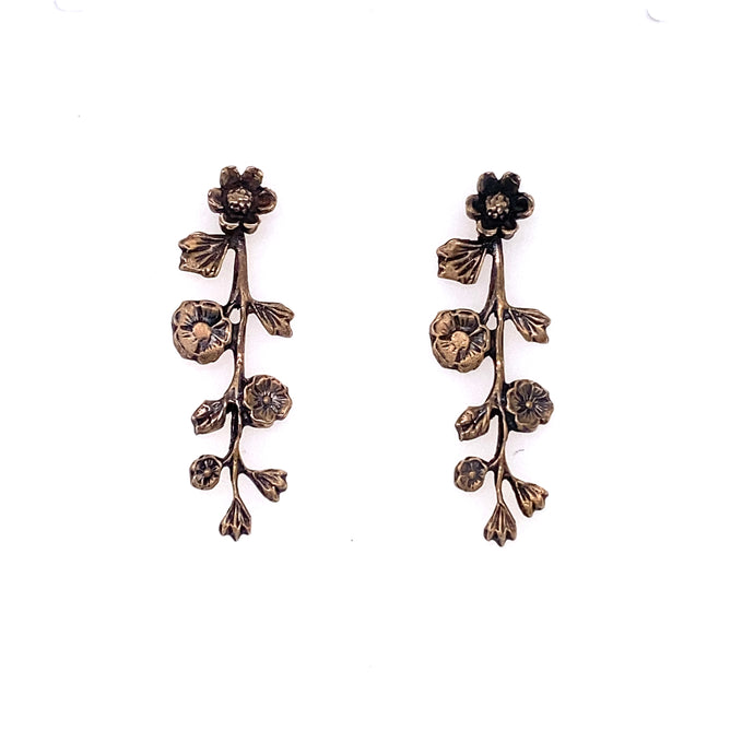 Floral Vine Earrings / Made by Ivry Belle Jewelry