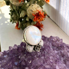 Load image into Gallery viewer, Lilac Moonstone Ring Made by Ivry Belle Jewelry / Lilac Moonstone Ring