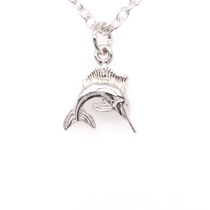 Marlin Pendant Made by Ivry Belle Jewelry / Marlin Pendant Necklace