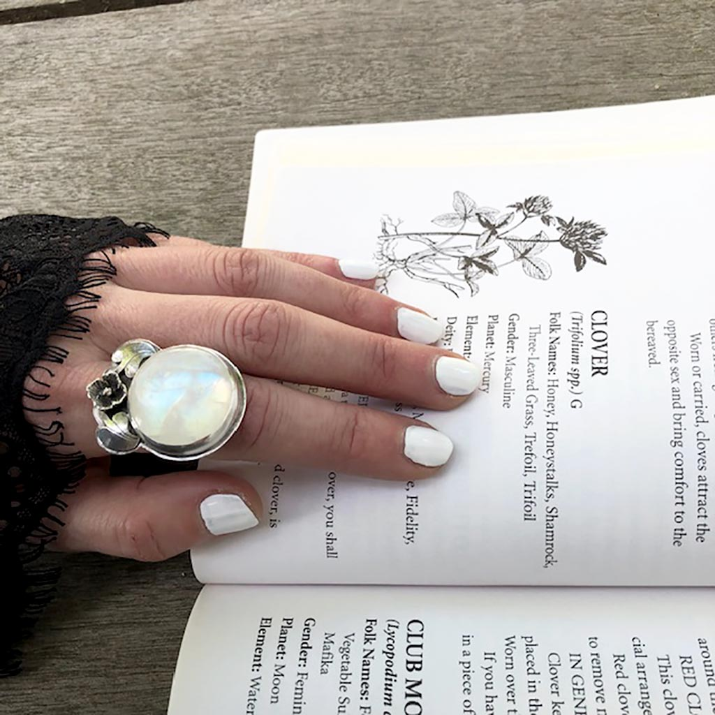 Lilac Moonstone Ring