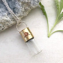Load image into Gallery viewer, Glass Elixir Bottle Necklace / Glass Elixir Bottle Necklace Handmade By Ivry Belle Jewelry