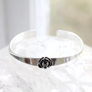 Rose Cuff Bracelet Made by Ivry Belle Jewelry / Rose Cuff Bracelet
