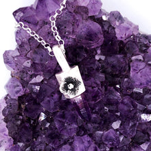 Load image into Gallery viewer, Amethyst Crystal Point Necklace Made by Ivry Belle Jewelry / Amethyst Crystal Point Necklace