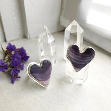 Load image into Gallery viewer, Wampum Heart Ring Handmade by Ivry Belle Jewelry / Size 8