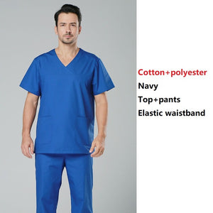 hospital doctor surgical scrub suits men pure cotton green medical uniforms nursing clothes men