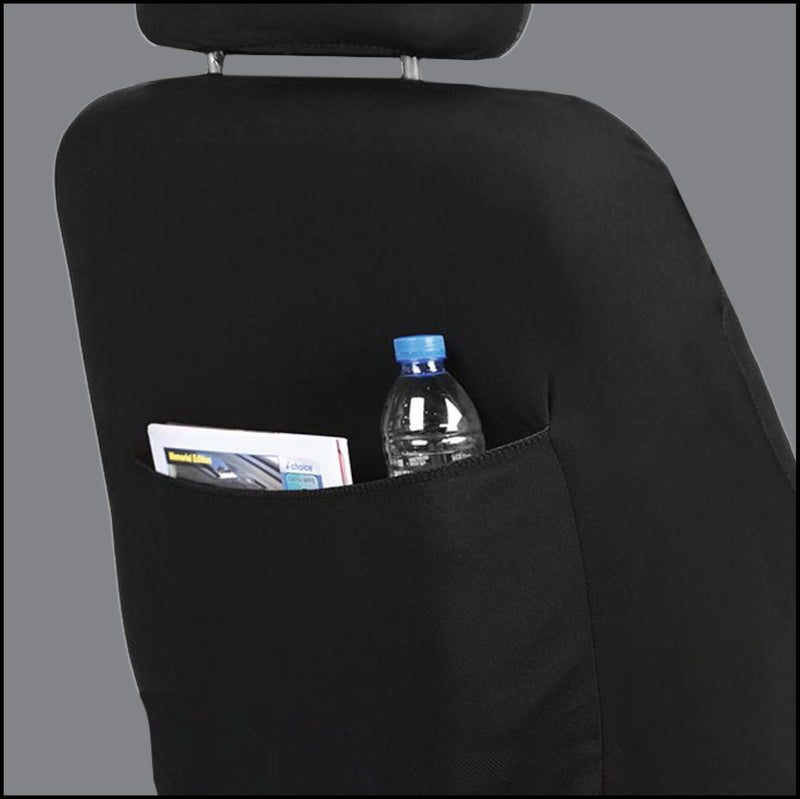 LPI Truck Series Drift King Faux Leather Seat Cover, Includes Driver and Passenger Covers, Universal fit - LeadPro Inc