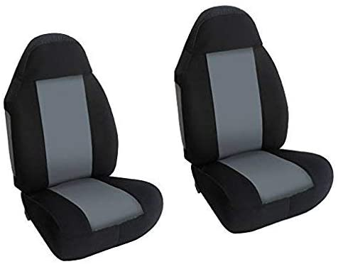 Car Front Bucket Seat Covers Universal for Pick up/SUV Truck with Armrest, Set of Two